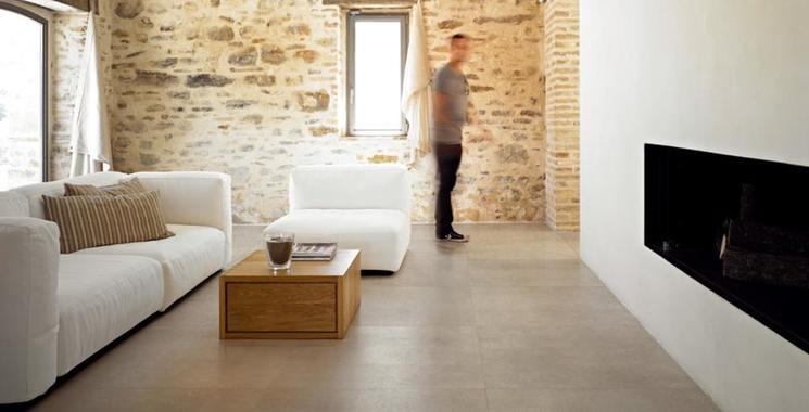 Moderne Zement- bzw. Betonoptik prägen diese trendige und zeitgenössische Fliese.