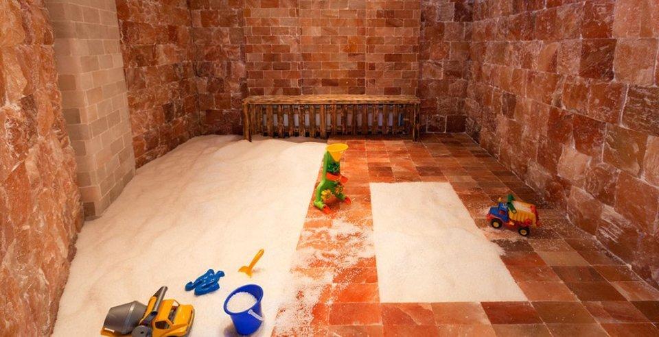 Auch für Kinder ist die Solino Salzgrotte geeignet.