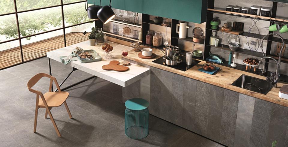 Neutrale Farben und eine Oberfläche wie geschliffener Stein: Zu bestaunen in unseren Kemmler Flagstores.