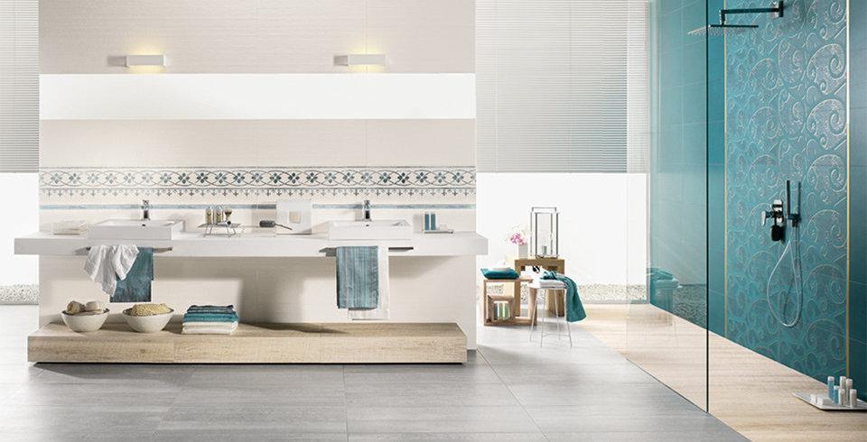 Mit den Fliesen der Serie Caravate lässt sich das Badezimmer individuell gestalten