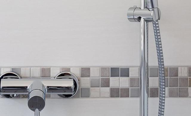Mosaik im der Dusche als Eyecatcher