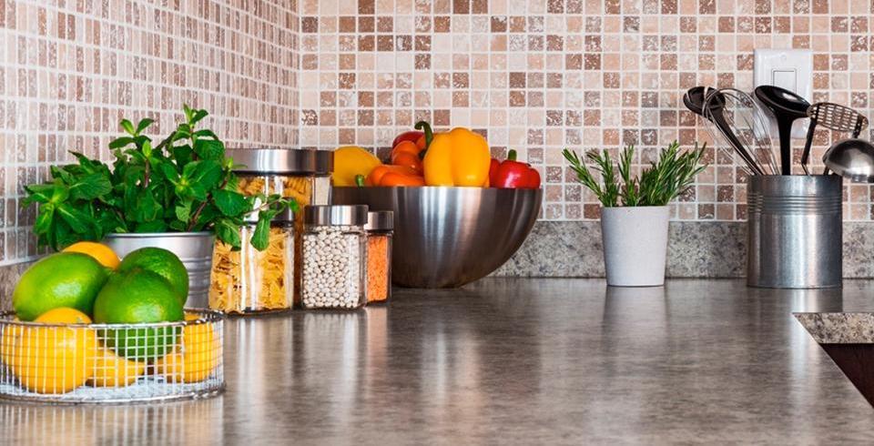 Naturstein-Mosaik in der Küche