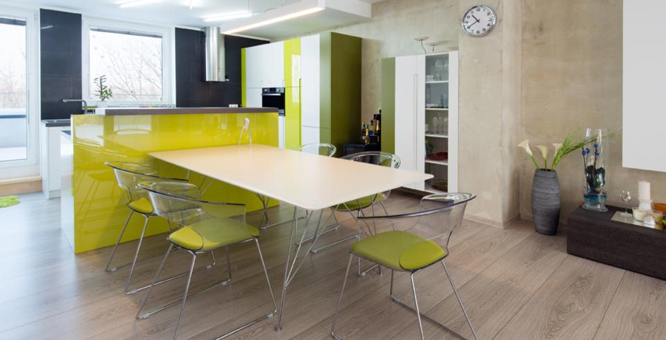 holzoptikfliese in der küche
