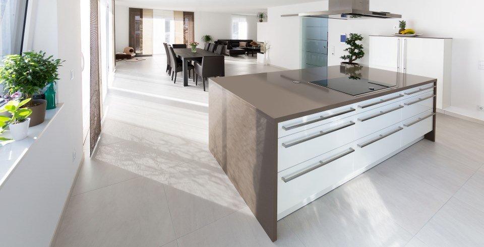 Küche mit betonoptikfliesen