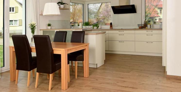 Fliese in Holzoptik Wohnzimmer und Küche