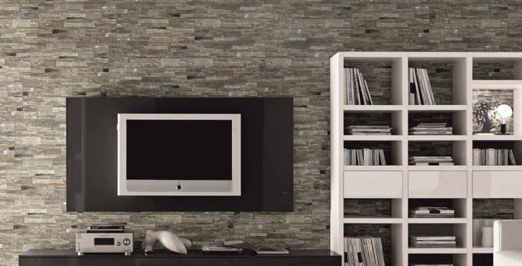 graue Fliese im look von Mauer oder Verblender