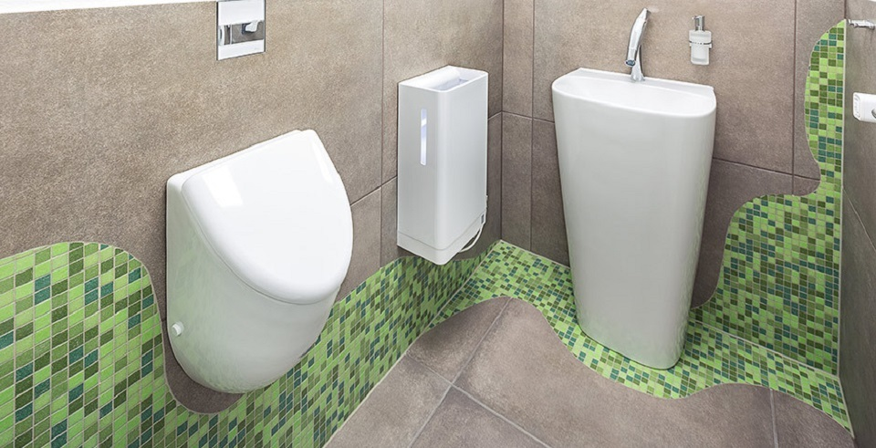 grünes mosaik individuell verlegt