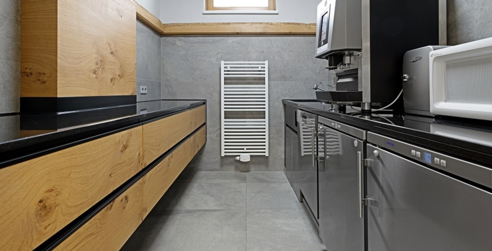 küchenfliesen grau im großformat