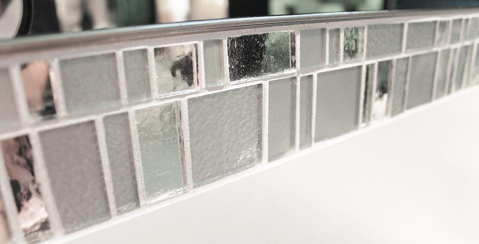 glasmosaik weiß