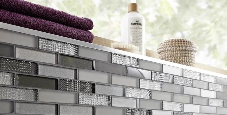 stäbchenmosaik mosaik metall farbig grau