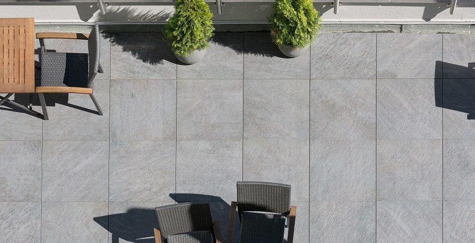 quadratische keramik-platte für den außenbereich outdoorbereich terrasse