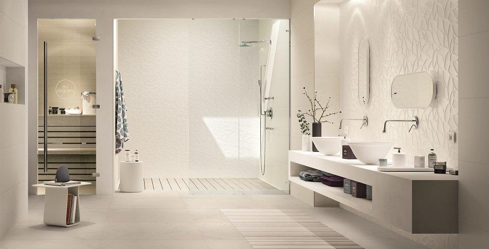 weiße wandfliese für das Badezimmer