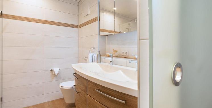 Fliesen im Badezimmer in Cotto Optik Referenz Freudenreich
