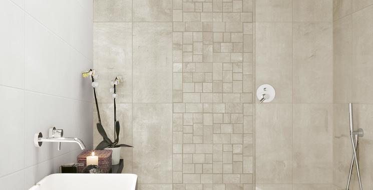 Mosaik Betonoptik Badezimmer