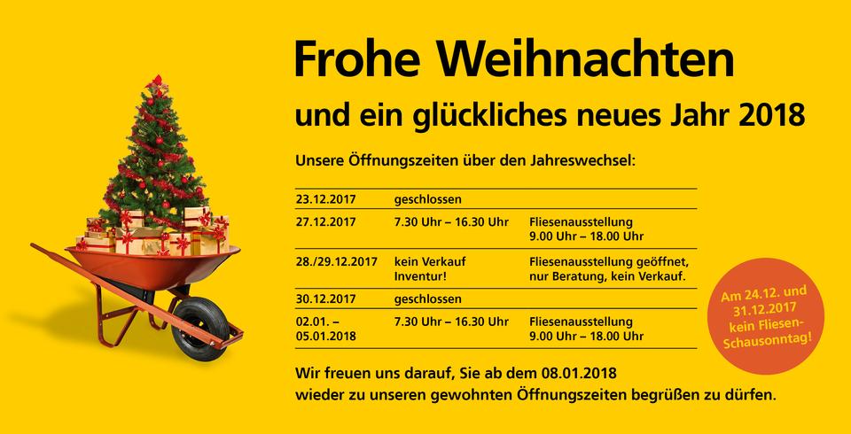 Inventur Weihnachten 2017 Tübingen