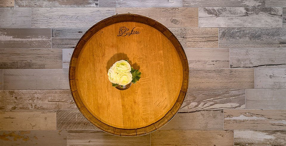 Holzfliesen von Fliesen Kemmler bei Valentinos Weinkeller