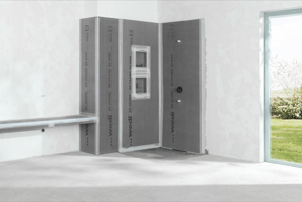 wedi Nische in Planung im Duschbereich