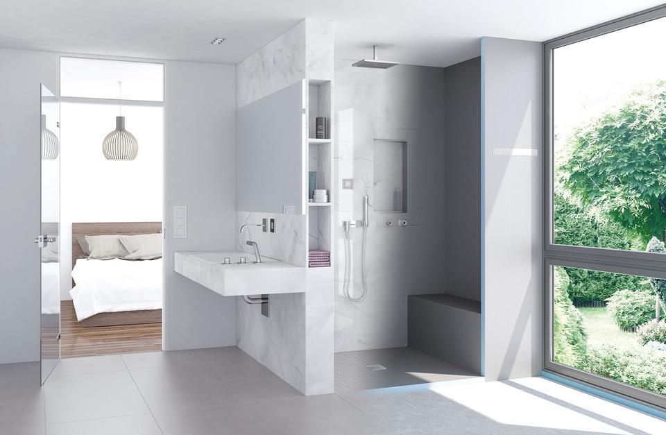 Dusche mit sitzbank - Pinkes badezimmer ...