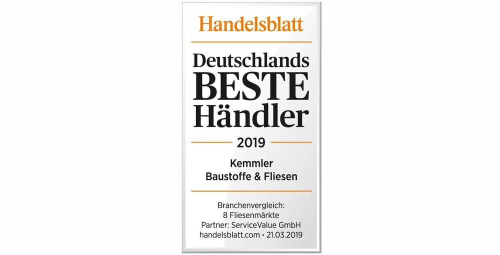 Das Siegel des Handelsblatt für Deutschlands Beste Händler