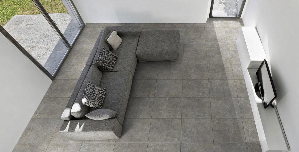 fliesen kemmler wand und bodenfliese envie in der farbe grau und im format 60 x 60 cm. Black Bedroom Furniture Sets. Home Design Ideas