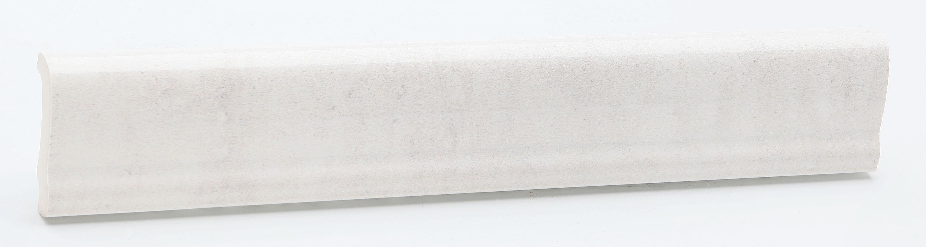 Bordüre 5x31cm Weiss Steingut